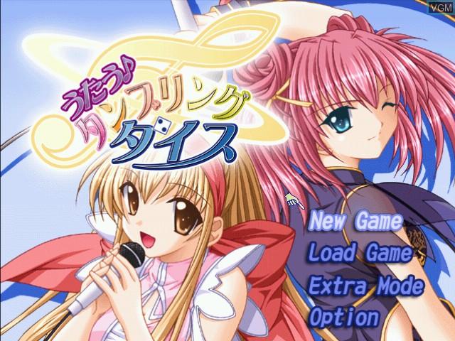 Menu screen of the game Utau - Tumbling Dice on Sega Dreamcast