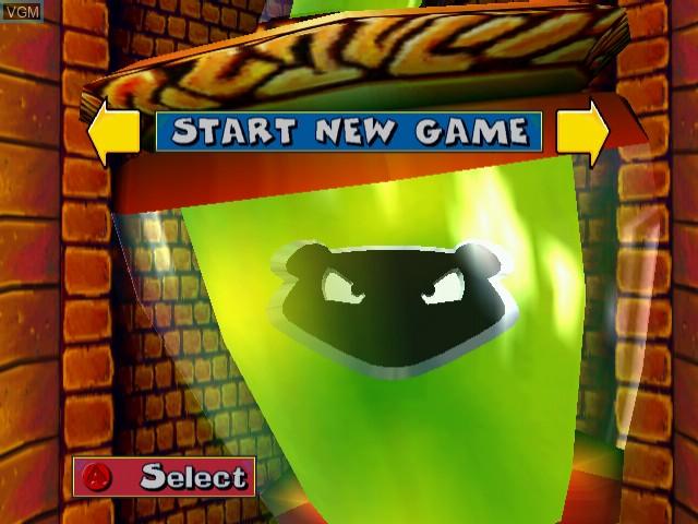 Menu screen of the game Fur Fighters on Sega Dreamcast