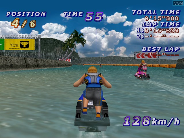In-game screen of the game Surf Rocket Racers on Sega Dreamcast