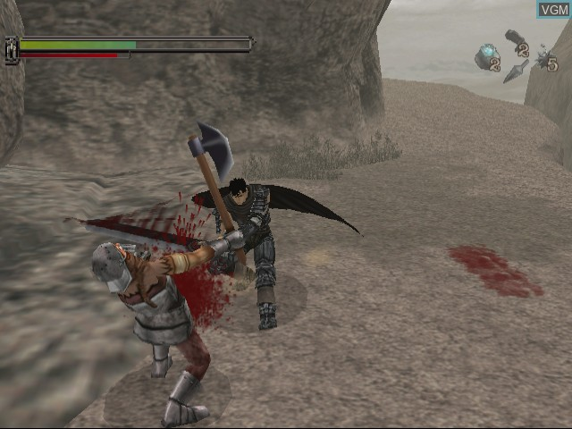 In-game screen of the game Sword of the Berserk - Guts' Rage on Sega Dreamcast