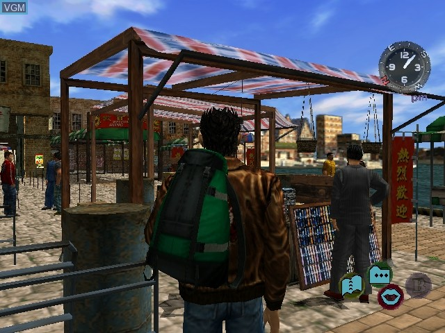 In-game screen of the game Shenmue II on Sega Dreamcast