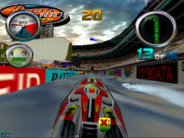 In-game screen of the game Hydro Thunder on Sega Dreamcast