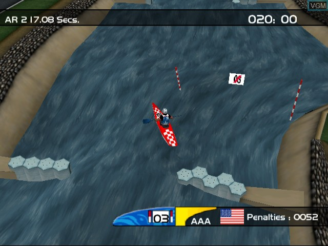 In-game screen of the game Sydney 2000 on Sega Dreamcast