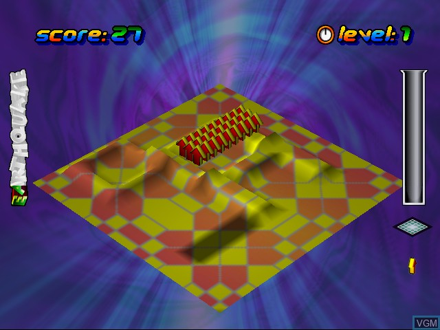 In-game screen of the game Wetrix+ on Sega Dreamcast