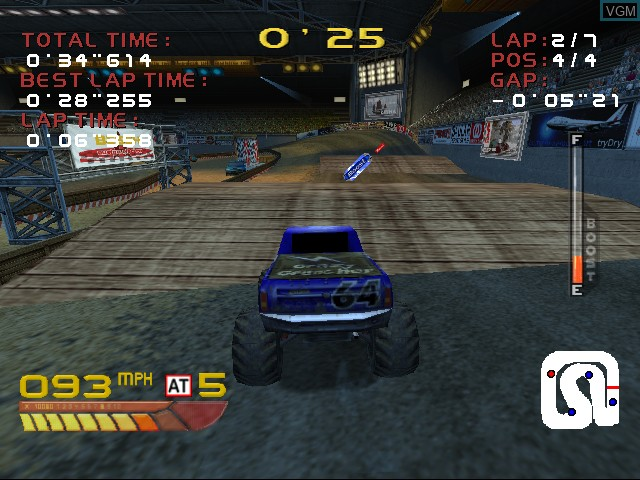 In-game screen of the game 4 Wheel Thunder on Sega Dreamcast