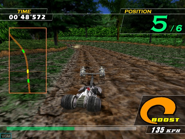 In-game screen of the game Zusar Vasar on Sega Dreamcast