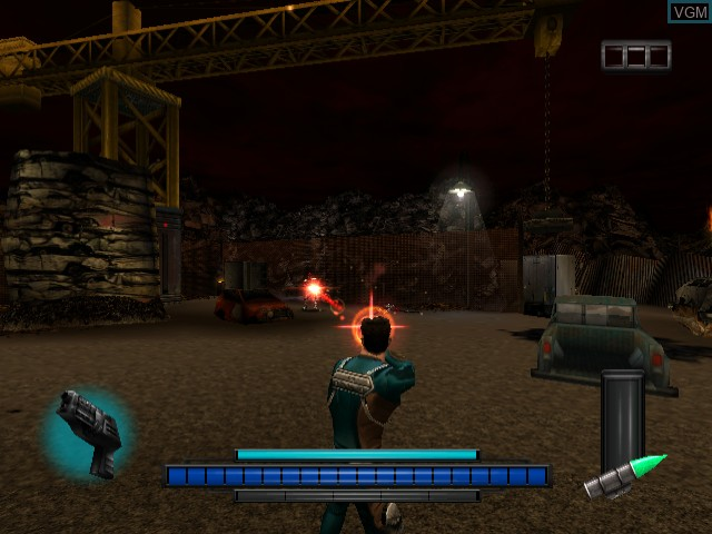 In-game screen of the game Max Steel - Covert Missions on Sega Dreamcast
