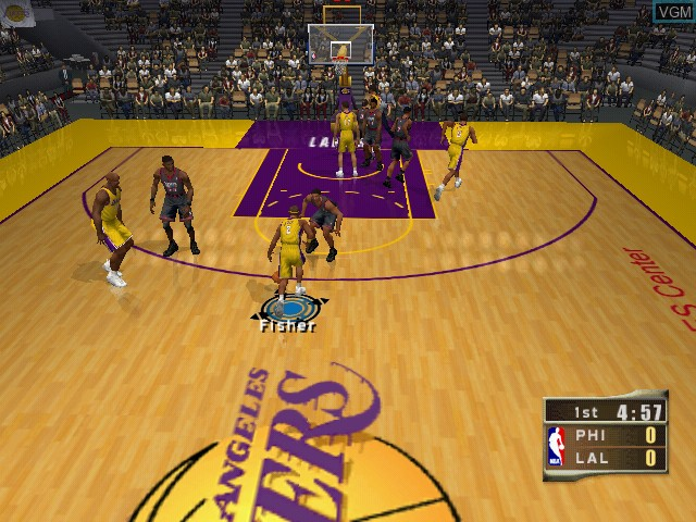 In-game screen of the game NBA 2K2 on Sega Dreamcast