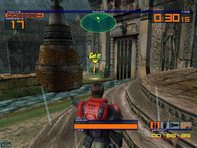 In-game screen of the game OutTrigger - International Counter Terrorism Special Force on Sega Dreamcast