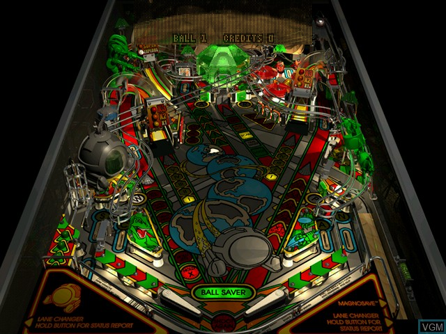 In-game screen of the game Pro Pinball Trilogy on Sega Dreamcast