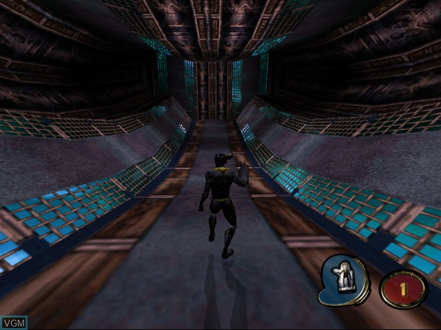 In-game screen of the game MDK 2 on Sega Dreamcast