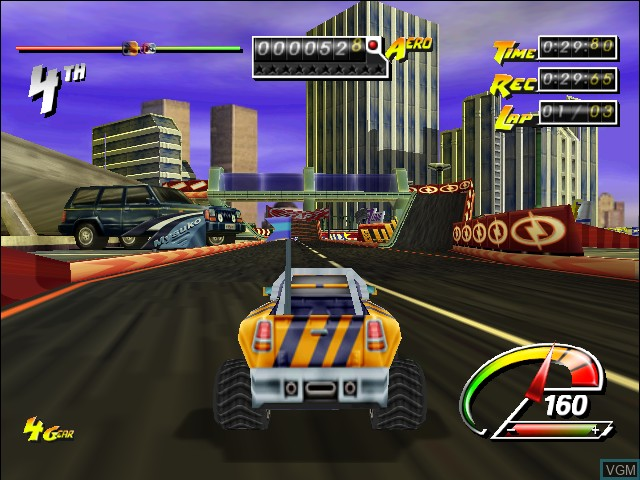 In-game screen of the game Stunt GP on Sega Dreamcast