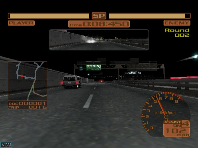 In-game screen of the game Tokyo Xtreme Racer 2 on Sega Dreamcast