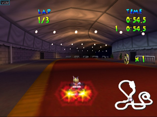 In-game screen of the game Walt Disney World Quest - Magical Racing Tour on Sega Dreamcast
