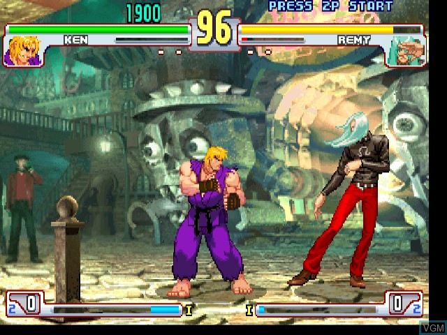In-game screen of the game Street Fighter III 3rd Strike - Fight for the Future on Sega Dreamcast