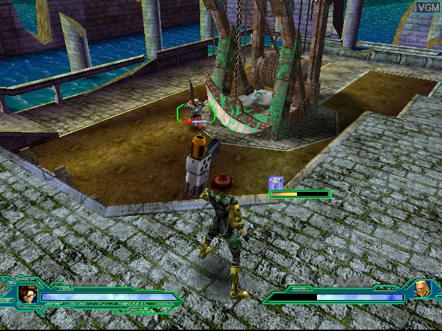 In-game screen of the game Heavy Metal - Geomatrix on Sega Dreamcast
