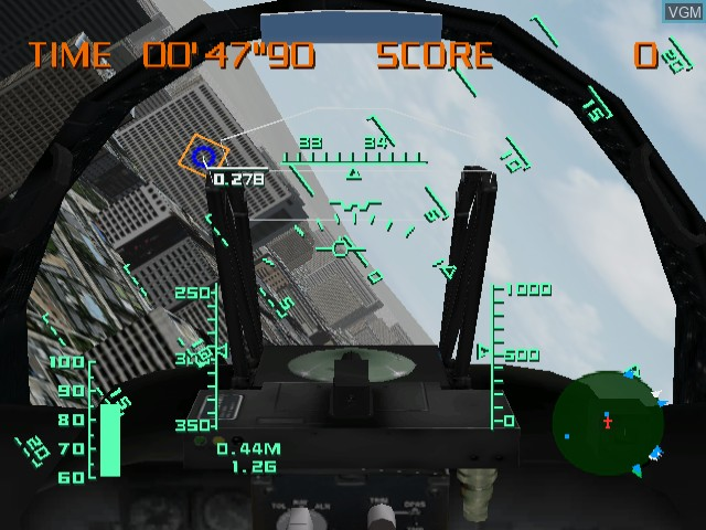 In-game screen of the game AeroWings on Sega Dreamcast