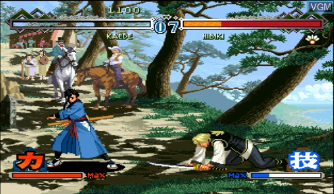 In-game screen of the game Last Blade 2, The - Heart of the Samurai on Sega Dreamcast