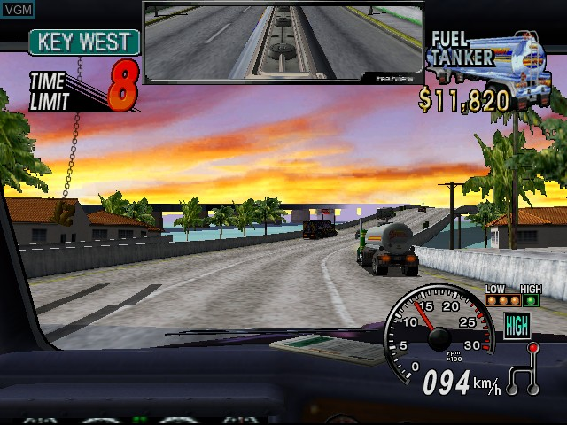 In-game screen of the game 18 Wheeler - American Pro Trucker on Sega Dreamcast