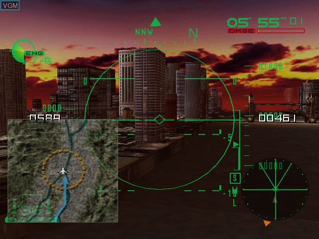In-game screen of the game Deadly Skies on Sega Dreamcast