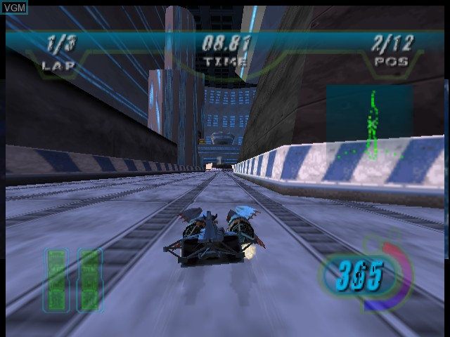In-game screen of the game Star Wars - Episode I - Racer on Sega Dreamcast