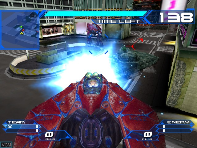 In-game screen of the game Alienfront Online on Sega Dreamcast