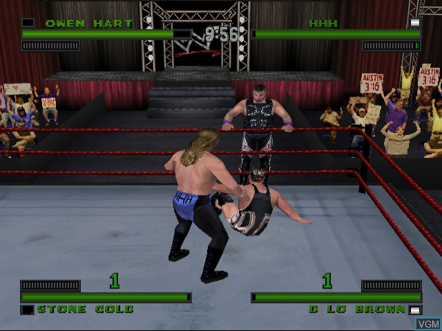 In-game screen of the game WWF Attitude on Sega Dreamcast