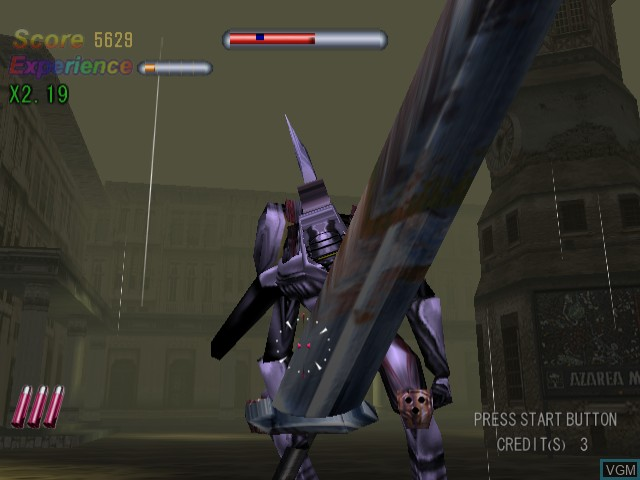 In-game screen of the game Death Crimson OX on Sega Dreamcast
