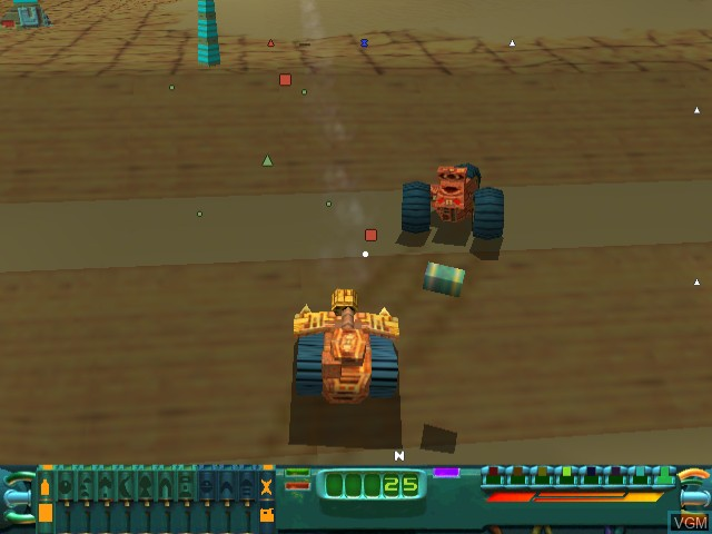 In-game screen of the game Wild Metal on Sega Dreamcast