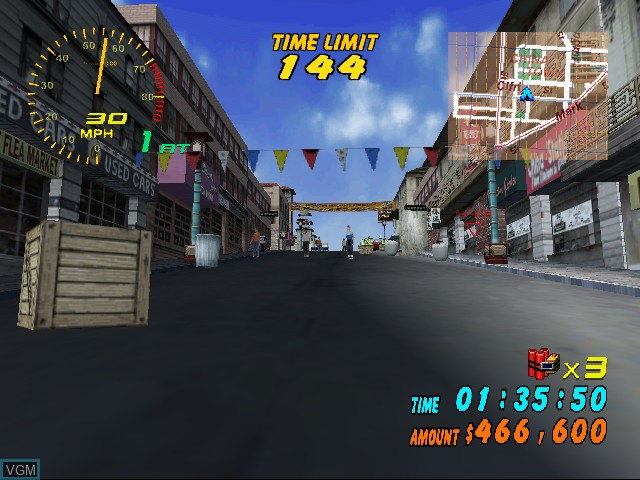 In-game screen of the game Super Runabout - San Francisco Edition on Sega Dreamcast