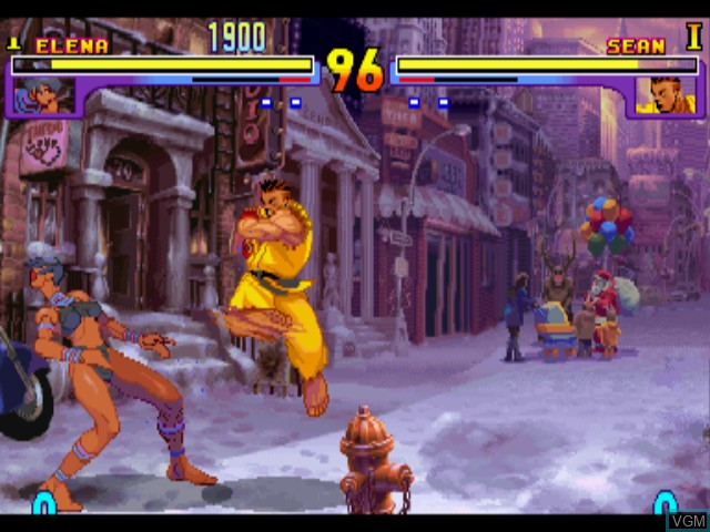 In-game screen of the game Street Fighter III - Double Impact on Sega Dreamcast