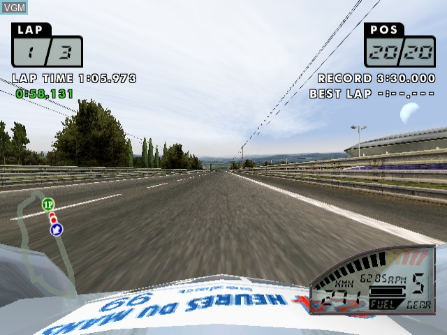 In-game screen of the game Le Mans 24 Hours on Sega Dreamcast