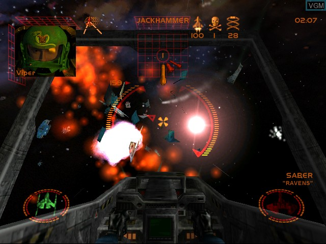 In-game screen of the game StarLancer on Sega Dreamcast