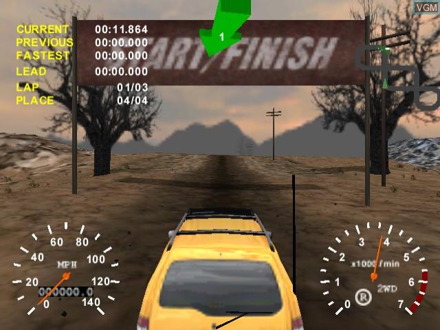 In-game screen of the game 4x4 Evo on Sega Dreamcast