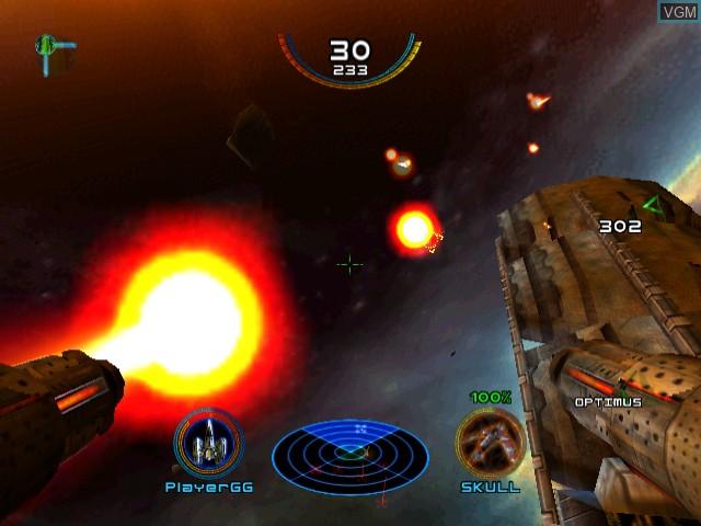 In-game screen of the game Bang! Gunship Elite on Sega Dreamcast