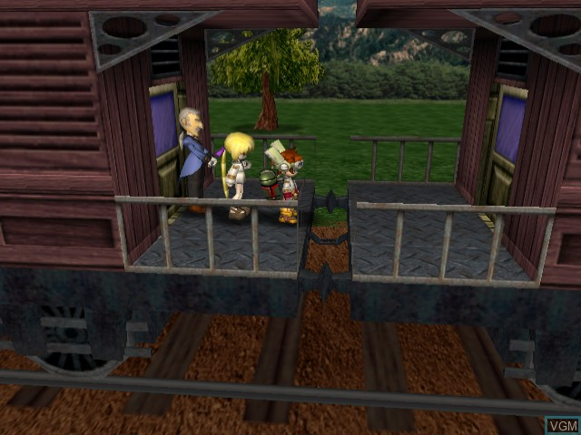 In-game screen of the game Evolution 2 - Far Off Promise on Sega Dreamcast