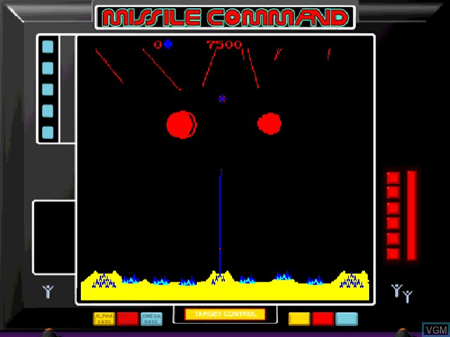 In-game screen of the game Atari Anniversary Edition on Sega Dreamcast