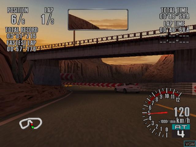 In-game screen of the game Sega GT - Homologation Special on Sega Dreamcast