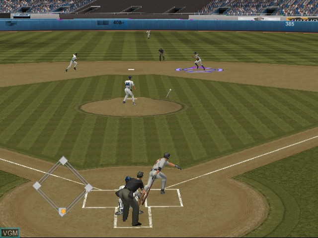In-game screen of the game World Series Baseball 2K2 on Sega Dreamcast