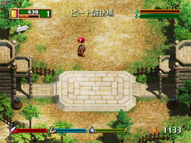 In-game screen of the game World Neverland Plus - Olerud Oukoku Monogatari on Sega Dreamcast