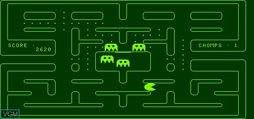 In-game screen of the game Chomp on Exidy Sorcerer