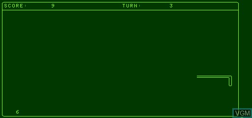 In-game screen of the game Snake on Exidy Sorcerer