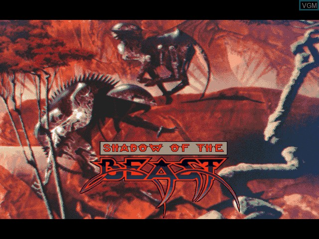 Title screen of the game Shadow of the Beast on Fujitsu FM Towns