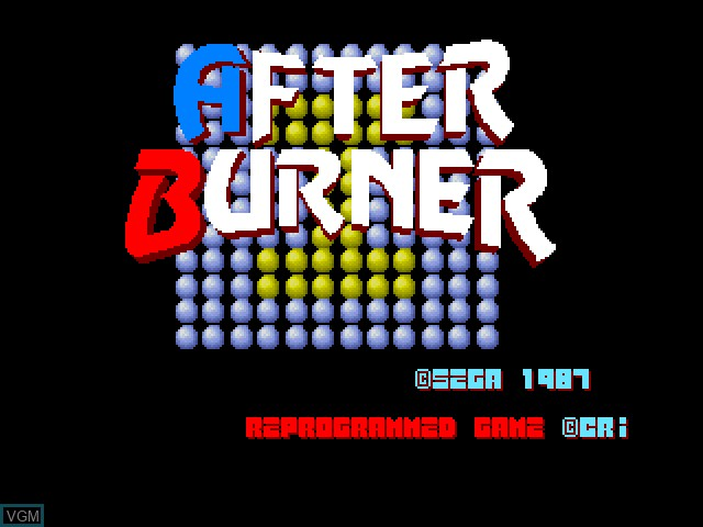 Title screen of the game After Burner on Fujitsu FM Towns