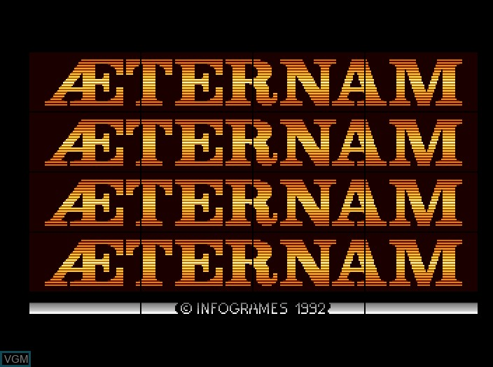 Title screen of the game Aeternam on Fujitsu FM Towns