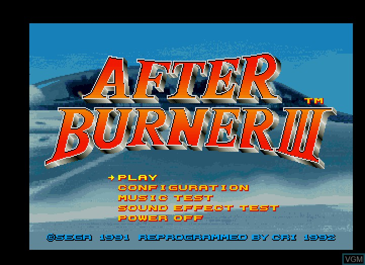 Title screen of the game After Burner III on Fujitsu FM Towns