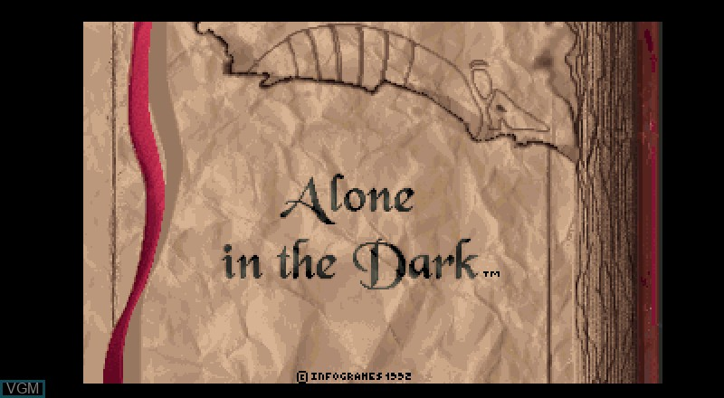 Title screen of the game Alone in the Dark on Fujitsu FM Towns