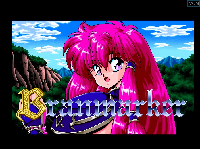 Title screen of the game Branmarker on Fujitsu FM Towns