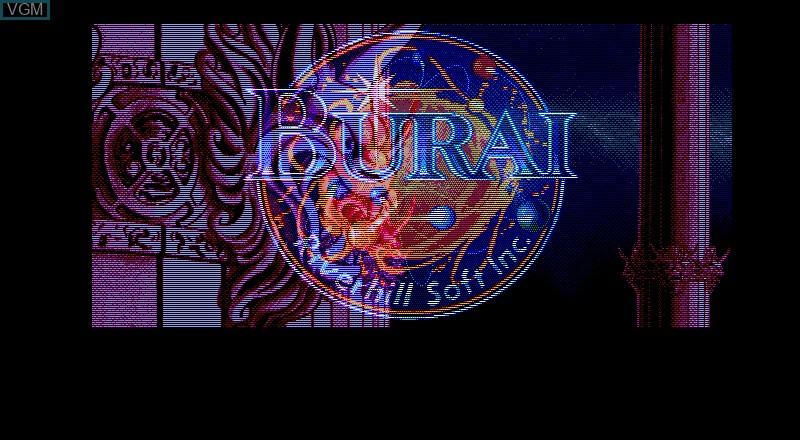 Title screen of the game Burai - Gekan Kanketsuhen on Fujitsu FM Towns