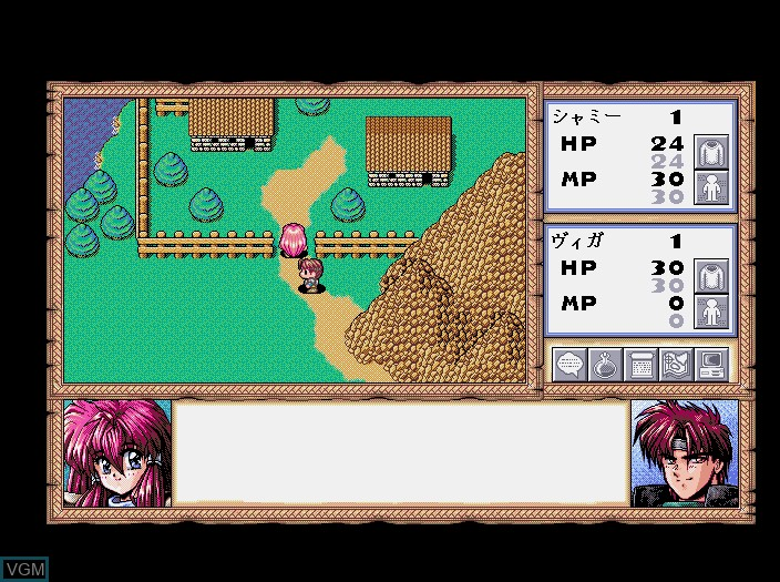 In-game screen of the game Branmarker 2 on Fujitsu FM Towns